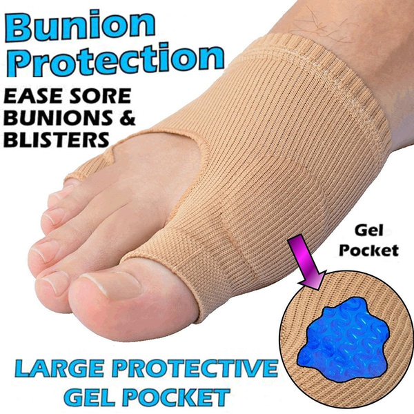 Gel Bunion Protection - Instant Pain Relief From Bunions, Blisters, Gout or  Arthritis (Gel Pocket Bunion Protection Sleeve) 1X Gel Big Toe
