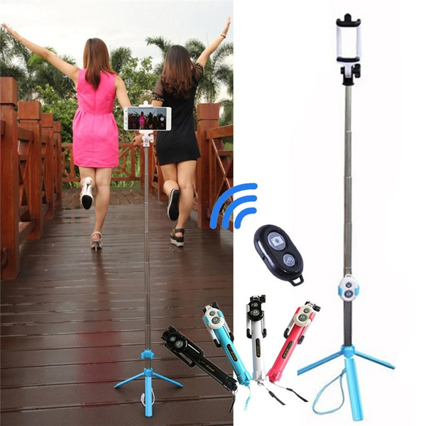 Picture of Fashion Portable Extendable Handheld Selfie Stick Monopod Tripods Bluetooth Remote Shutter