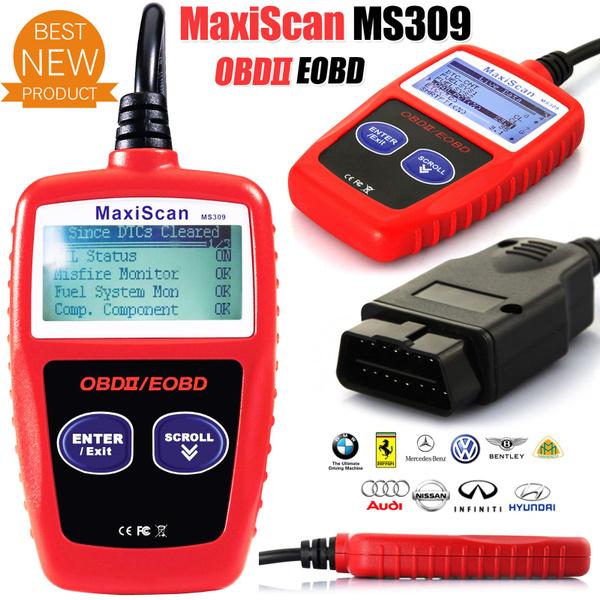 MS309 OBD2 OBDII EOBD Car Fault Code Reader MaxiScan MS309 Diagnostic Tool