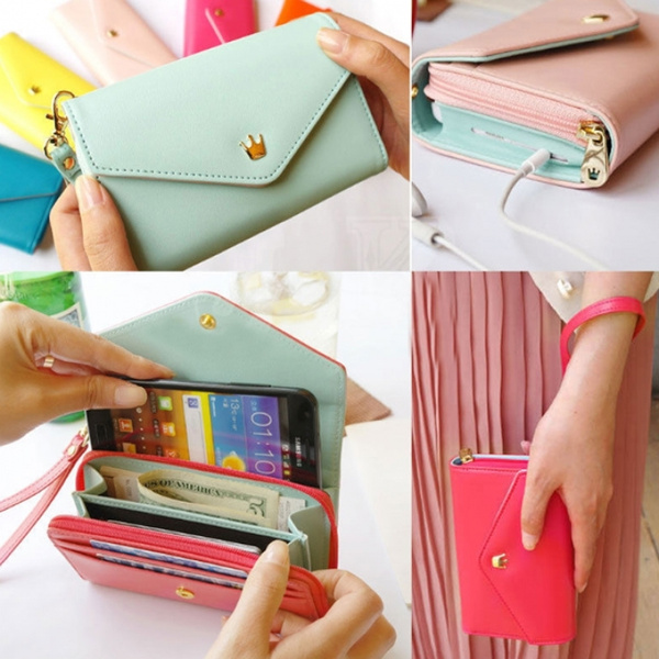 Picture of Women Clutch Bag Cell Phone Pockets Coins Case Casual Purse