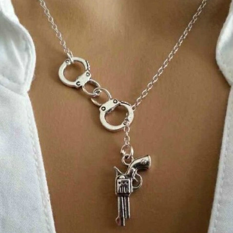 Fashion, Jewelry, gunpendantnecklace, loversnecklace