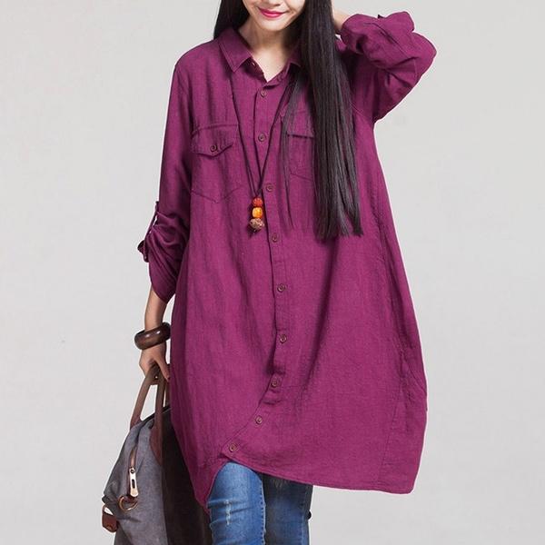 blouse, Women, Loose, Cotton T Shirt