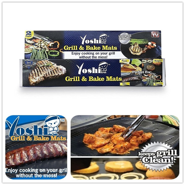 Yoshi Grill Baking Mat Set Nonstick 2 Pack Outdoor Home Grill Bbq Tool As Seen On Tv