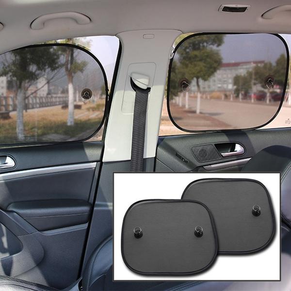 Foldable Mesh Car Side Rear Window Sun Shade Cover Visor Shield Screen 2pcs