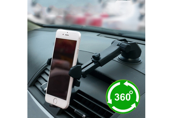 High quality Car Mount Holder Telescopic mobile phone bracket for iPhone 6s Plus 6s 5s 5c Samsung Galaxy S7 Edge S6 S5 Note 5