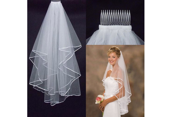 1.5m Long Wedding Tiara Wedding Head Veil Wedding Tulle Veil Bridal Accessories