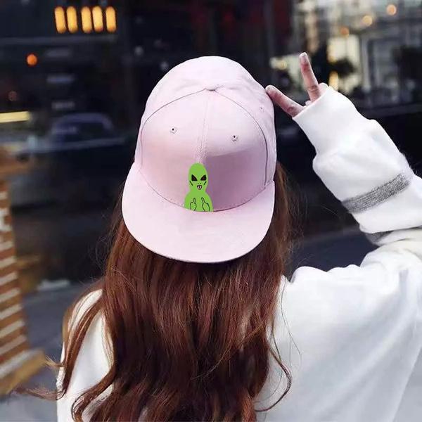 cbb42bbd38f Middle Finger Alien Print Hip Hop Baseball Cap Snapback Hats for Men Women  Adjustable