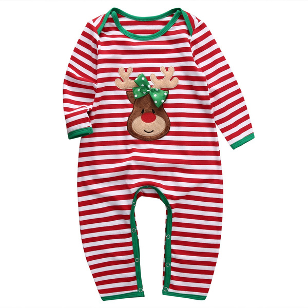 wish baby girl boy clothes pajamas outfit newborn kids christmas bodysuit romper pjs