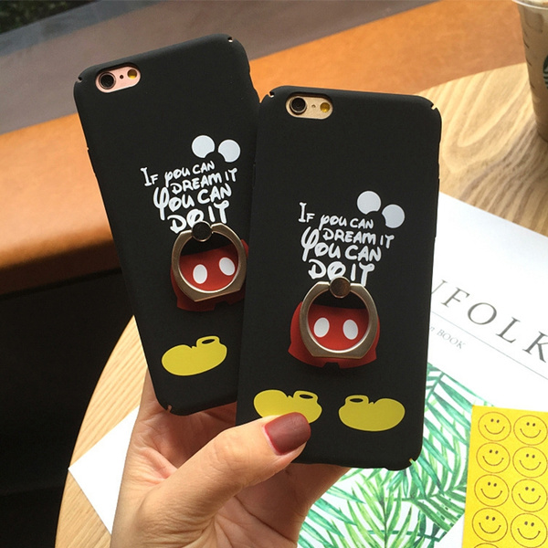 Picture of Cartoon Mouse Matte Ring Case For Iphone 6 6s Plus Hard Cases Back Cover For Iphone 7 S Plus