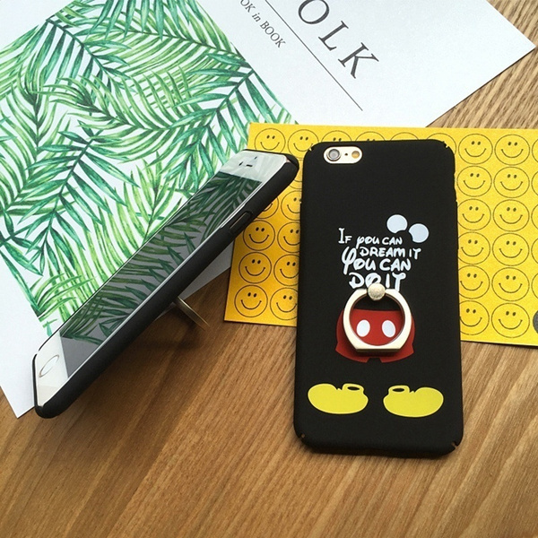 Cartoon Mouse Matte Ring Case for IPhone 6 6S Plus Hard Cases Back Cover for IPhone 7 S Plus