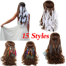 peacock, Tassels, hair, headdress