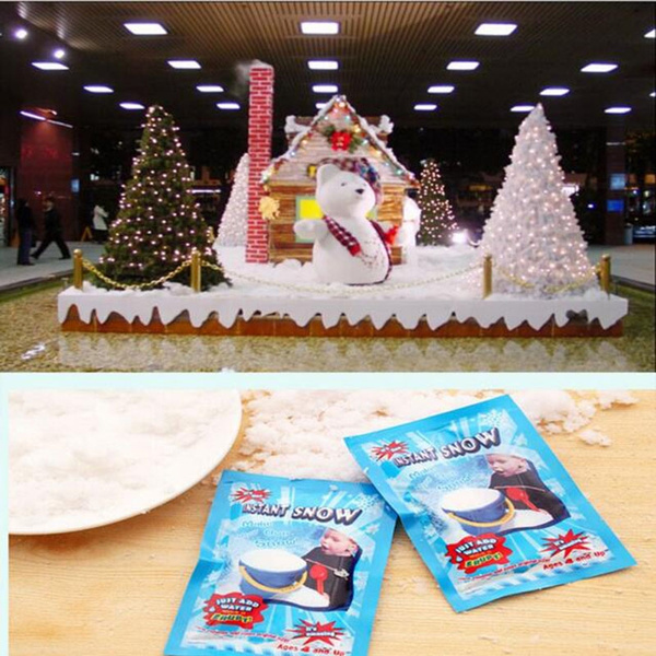 5 10pcs Fake Magic Instant Snow Fluffy Super Decorations For