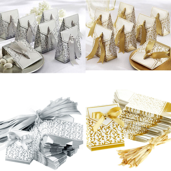 Box, golden, ribbonbox, weddingribbon