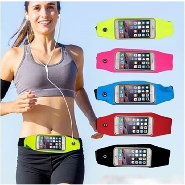 Picture of Hot Fashion Two Size Sport Waist Belt Bag Multifunctional Waterproof Can Touch Screen Belt Bag Running Phone Pouch Wallet Case