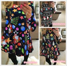 slim dress, Outdoor, sleeve dress, Christmas