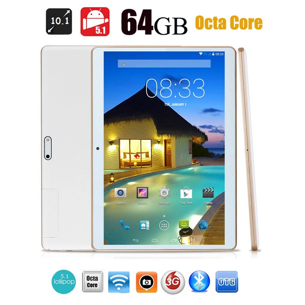Picture of 2017 New Octa-core 10 Inch 4g+64g Android 5.1 Dual Sim 3g Call Phone Pad Tablet Pc