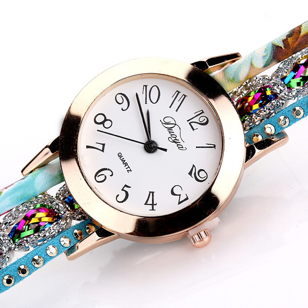 Elegant Women Brand Fashion Casual Weave Leather Ladies Watches Woman Luxury Jewelery Crystal Inlaid Quartz Wristwatch