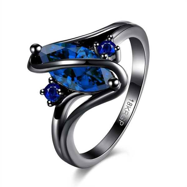 Blues, wedding ring, Blue Sapphire, gold