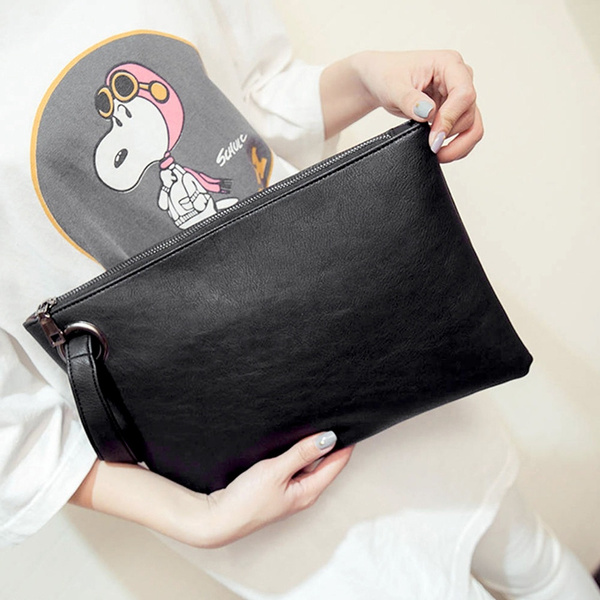 Picture of Women Leather Envelope Clutch Evening Party Handbag Wallet Tote Purse Bags