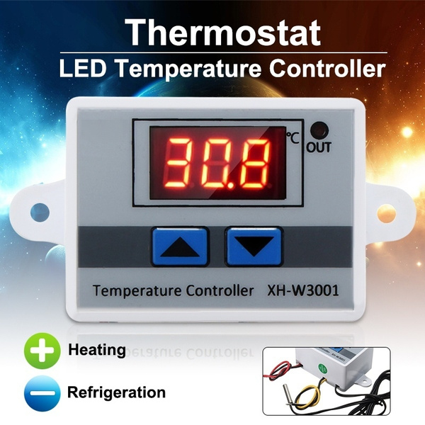 Digital 220V LED Temperature Controller 10A Thermostat Switch Control Probe New
