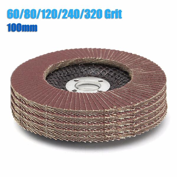 100mm Flap Wheels Grinding Sanding Discs 60//80//120//240//320 Grit Angle Grinder US