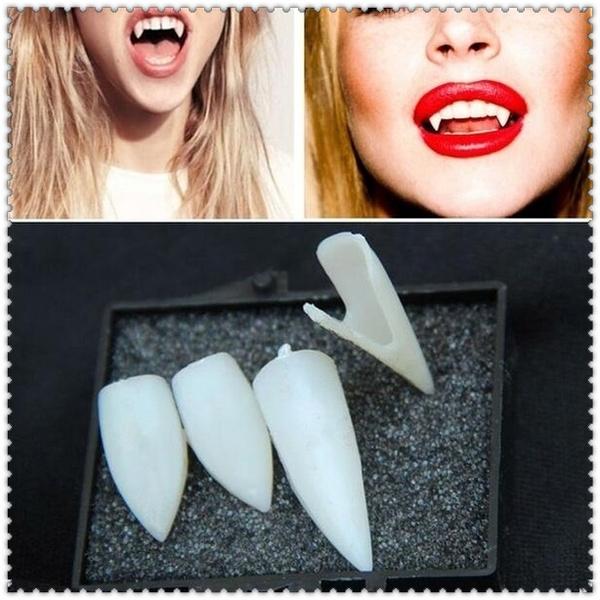 Halloween Cosplay Dentures Vampire Teeth Devil Fangs Costume Ghost Party Props