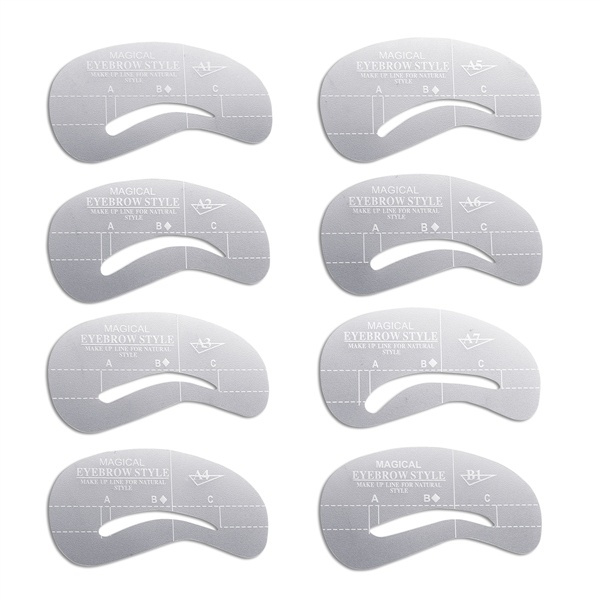 Mama 24pcsset Eyebrow Stencils Eye Brow Grooming Shaping