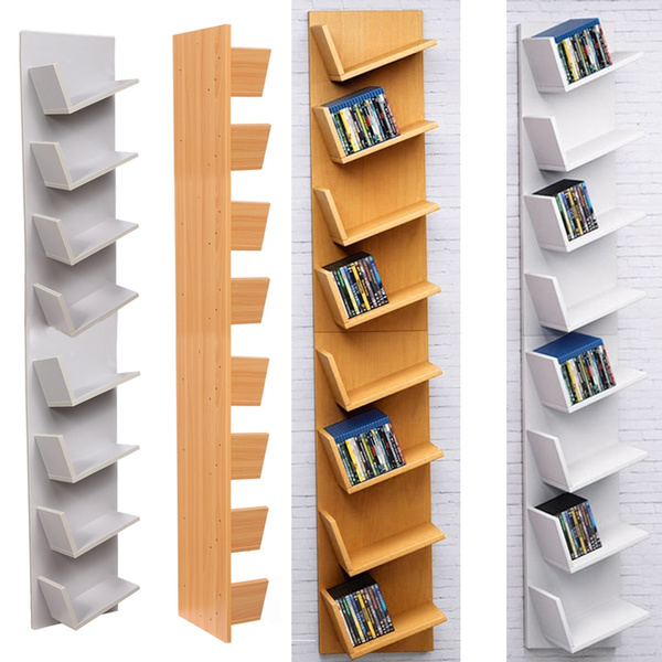 Cabinet Tall Dvd Book Rack Storage Unit