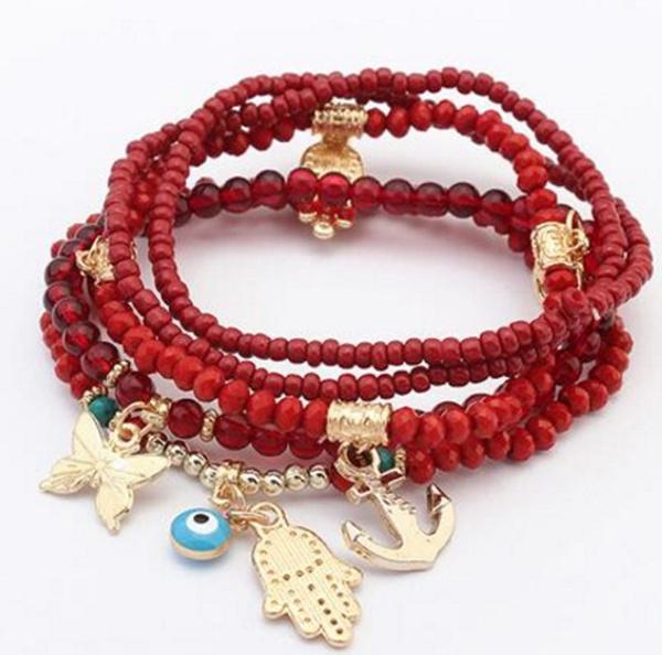 Charm Bracelet, Crystal Bracelet, eye, Jewelry