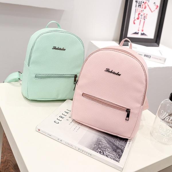 Picture of Girls Leather School Bag Travel Backpack Satchel Women Shoulder Rucksack