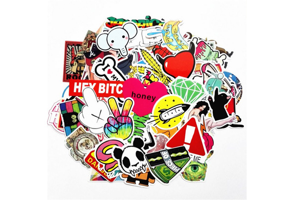 50/100/200 Pcs Colorful Mixed Home Decor Jdm Brand Luggage Snowboard Laptop Decal Motorcycle Car Sticker Covers