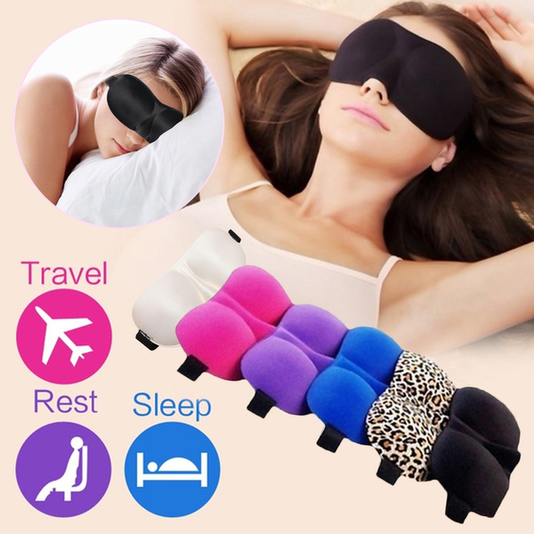 3D Soft Eye Mask Shade Comfort Rest Travel Sleeping Aid Patch Blinder Shield 6 Colors 23 x 9 cm