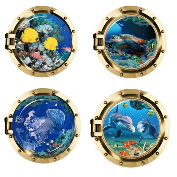 underwater, Home Decor, Hobbies, underwaterworldsticker