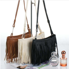 Shoulder Bags, Tassels, Fashion, Synthetic leather