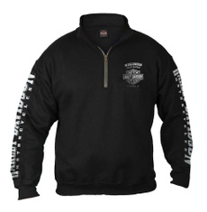 Fashion, Harley Davidson, Zip, 100cotton