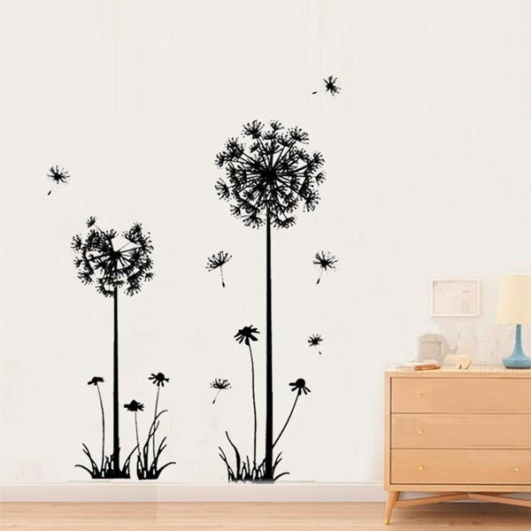 Decor, wallpapersticker, art, dandelion