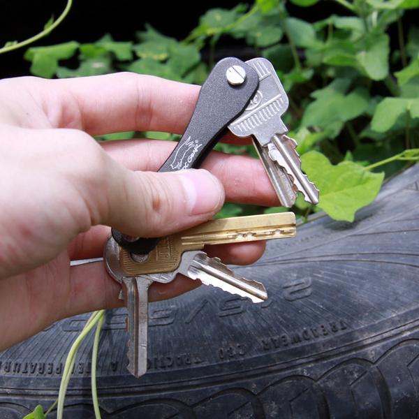 Hard Aluminum Oxide Key Holder Organizer Flexible Key Chains Compact Key Chain