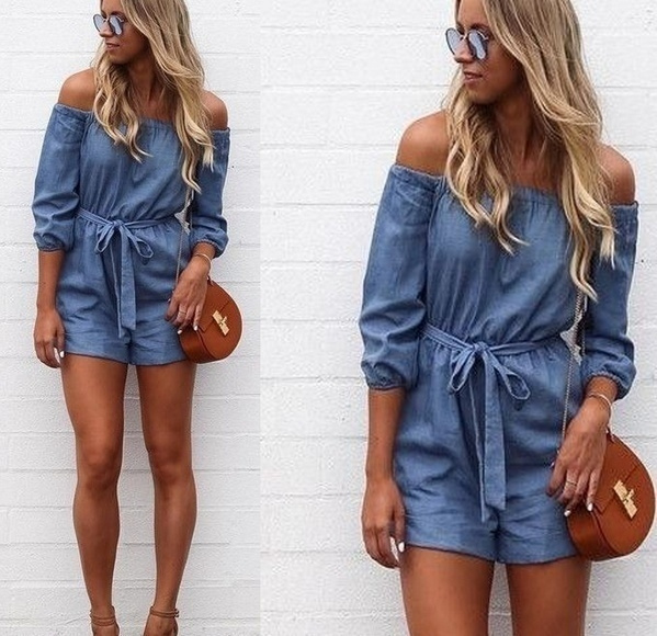 Picture of Womens Holiday Mini Playsuit Ladies Jumpsuit Summer Beach Dress