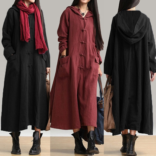 Fashion, hooded coat, dungaree, Long Sleeve