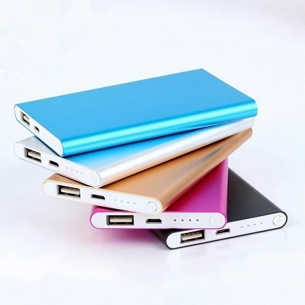 Picture of Rose Gold Metal Power Bank 4000mah Portable Ultrathin Battery With Cable Charger Polymer For Phones