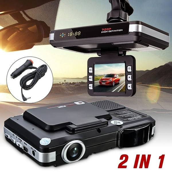 "2.0/"" 720P HD 2 In 1 Car Camera DVR Dash Cam Recorder Radar Laser Speed Detector"