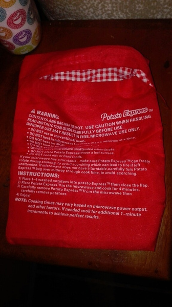 Wish Molove New Red Washable Cooker Bag Baked Potato Microwave