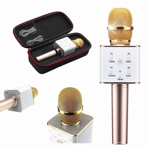 Picture of Luxury Q7 Home Ktv Karaoke Microphone Player Bluetooth Speaker For Pc Phone Gold