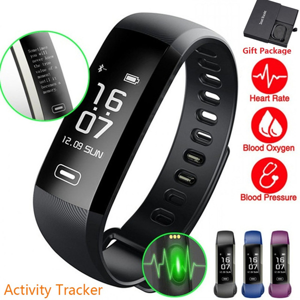 Picture of M2 Smart Band Heart Rate Blood Pressure Oxygen Oximeter Sport Bracelet Fitness Watch Smartband Pulse For Ios Android Color Black Blue Green Purple