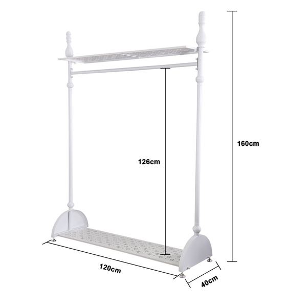 vintage style clothes rail uk, wish | 4ft shabby chic white garment rail metal vintage style, Design ideen