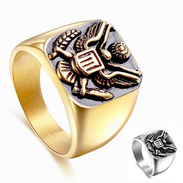 Steel, Eagles, eaglering, Jewelry
