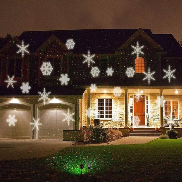 wish outdoor waterproof led moving snowflake style light landscape garden yard stage projector christmas decoration spot light lamp - Moving Outdoor Christmas Decorations