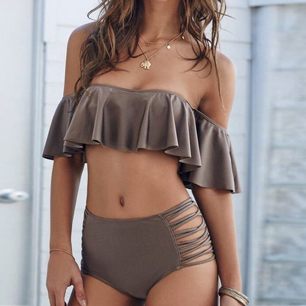 Women's Fashion Sexy Swimsuit High Waisted Bikini