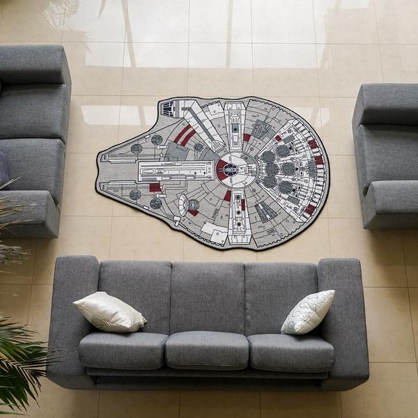 """Star Wars Millenium Falcon Rug, 39"""" L x"""