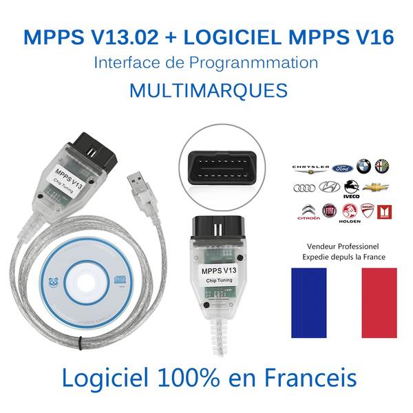 Interface V13 02 MPPS OBD2 Scanner Software MPPS V16 Flash Tuning K CAN ECU